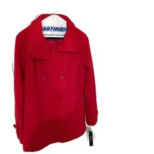 BNCI by Blanc Noir Red Wool Mix Coat size M NWT